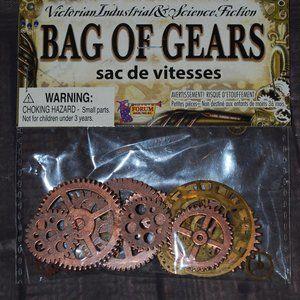 Jewelry - Steampunk bag of gears